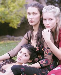 """Bella Hadid, Kylie Jenner and Lottie Moss for Vogue January 2016."""