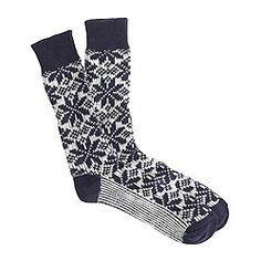 Snowflake socks $16.50