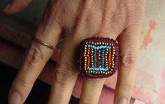 Crochet Rings, Bead Crochet, Square, Cut Glass, Beaded Bracelets, Necklaces, Boho Jewelry, Seed Beads, Glass Beads