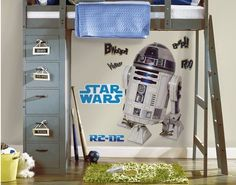 Star Wars Classic R2D2 Peel Sticker Giant Wall Decals Roommates Kids #RoomMates…