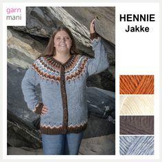 HENNIE JAKKE - Garnmani.no - Spesialist på islandsk garn Iceland, Pullover, Knitting, Sweaters, Design, Fashion, Threading, Model, Ice Land