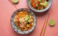 Recipe: Vegetable and Tofu Pad Thai - MissFresh Tofu Pad Thai, Hello Fresh Recipes, Thing 1, Thai Dishes, Plant Based Diet, Vegan Vegetarian, Dairy Free, Spicy, Easy Meals