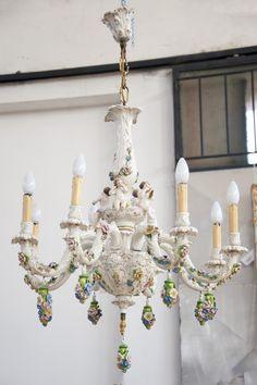 lampadario capodimonte : Lampadario di Capodimonte.