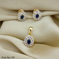 Flower Style With Blue Stone. Rama Creations Manufacturer & Wholesalers of Artificial Fashion Jewellery in India. Jewelry Design Earrings, Gold Jewellery Design, Diamond Jewellery, Fashion Jewellery, Gold Jewelry, Diamond Earrings, Gold Ring Designs, Gold Locket, Stone Jewelry