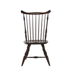 """Nantucket Side Chair  25.5"""" wide at widest point Cost from 760.00 Largest Fan Back Dining Chair Wide Leg Splay Oval Seat with Feature-Line Tapered Spindles Shown:  Maple Seat / Walnut Stain Overall:  25""""W  x  """"D  x  41""""H   •   Seat:  19.5""""W  x  """"D  x  17.5""""H  ALL PRICES INCLUDE SHIPPING within the contiguous 48 States.  Please contact us regarding a shipping quote to Hawaii / Alaska or Internationally."""
