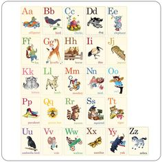 Animal ABC Flashcards - for her reading nook