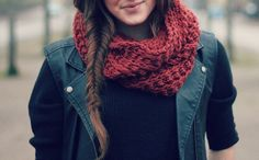 scarf and fishtail.