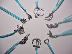 Set of 10 Cake Pull Charms -- Victorian Wedding Tradition -- Bridal Shower Game -- Wedding Cake Decoration. $18.00, via Etsy.