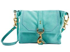 Lucy bag in Aqua suede with Lavender trim - its all in the details