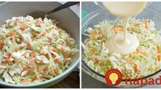 "Legendárny kapustový šalát ""Coleslaw"" podľa šéfa: V lete neexistuje lepšia príloha, robíme ho na každú grilovačku! Coleslaw, Pasta Salad, Grains, Rice, Ethnic Recipes, Food, Coleslaw Salad, Meal, Essen"