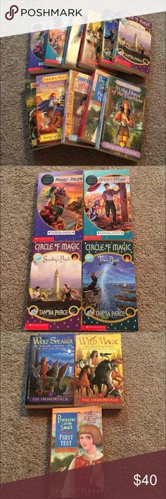Tamora Pierce Book Bundle These series of books are all about magic and adventure and are perfect preteen books! All of these books were ones that I bought a while back that I told myself I was going read them but I never got around to it, and now someone else can!   Happy to post pictures of descriptions if anyone wants to know what they are about! Books Retail $5.50 each  Song of the Lioness: books 1-4  Protector of the Small: first book  The immortals: books 1-2  Circle of magic: books…