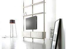 Yomei room divider met TV die 180 graden draaibaar is. Tv Wall Decor, Smart Home Technology, Home Camera, Make A Choice, Wireless Router, Space Saving Furniture, Tv Unit, Indoor, Audio