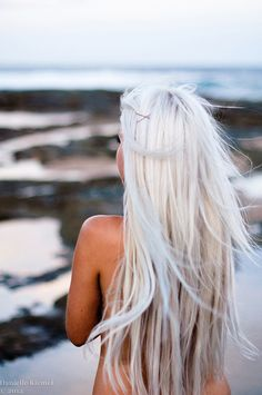 Long hair - silver. Mine's almost this color . It looks so pretty on her