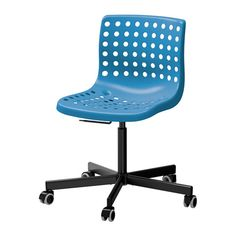 SKÅLBERG / SPORREN Bureaustoel - -, blauw/zwart - IKEA