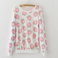 "Color:ice-cream cone.strawberry. Size:one size. Length:63cm/24.57"". Bust:96cm/37.44"". Sleeve length:58cm/22.62"". Fabric material:cotton. Tips: *Please double check above size and consider your measure"