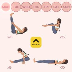 Fitness Workouts, Yoga Fitness, Fitness Workout For Women, At Home Workouts, Yoga Workouts, Physical Fitness, Yoga Exercises, Fitness Logo, Fitness Games