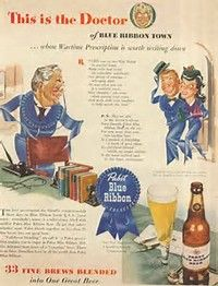 Pabst Blue Ribbon Beer (1960s).