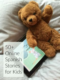 Online Spanish stories let kids practice reading anywhere! Fun stories about different topics at a range of levels. A story for every Spanish learner! Spanish Lessons For Kids, Learning Spanish For Kids, Spanish Activities, Spanish Language Learning, Teaching Spanish, Teaching Kids, Spanish Teacher, Spanish Classroom, Elementary Spanish