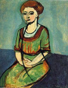 Henri Matisse (French, 1869-1954) - Olga Merson (1910) - oil on canvas, 99x80 cm