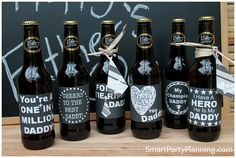 Welcome to Smart Party Planning!    These printables are chalk board beer labels and perfect for use on either Fathers Day or your Dads