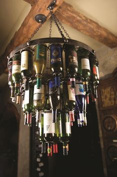 TEMPORARILY OUT OF STOCK - Amalfi Wine Bottle Chandelier by Bella Toscana $649.95