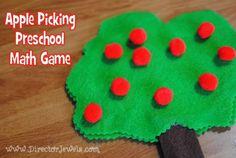 Director Jewels: Apple Picking Preschool Math Game & Busy Bag