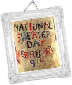Canadian National Sweater Day February 9, 2012...cute! Bebe Navey's 1st Birthdayyy!