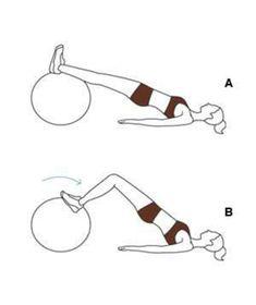 lower ab crunch übungen mit einem gymnastikball