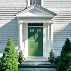 Clean Green  front door personalized with paint
