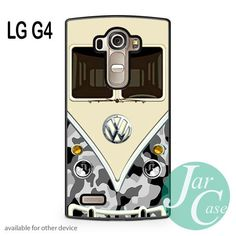 black camo vw retro bus Phone case for LG G4 and other cases
