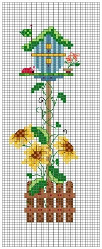 Free Cross Stitch Birdhouse Chart Pattern