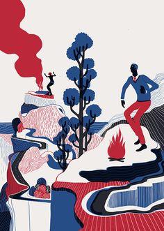 Illustrations by Sam Chivers | Inspiration Grid | Design Inspiration www.samchivers.com