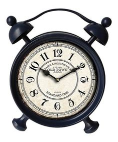 Another great find on #zulily! Dark Blue Table Clock #zulilyfinds