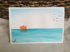 Personalized Original Boat Watercolor by TandFArtistry on Etsy