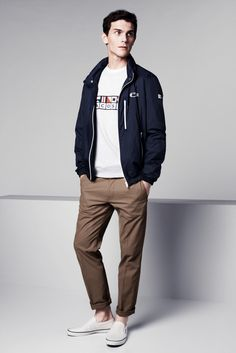 012 LACOSTE SS14 Menswear LR Lacoste Launches Maritime Flags Collection