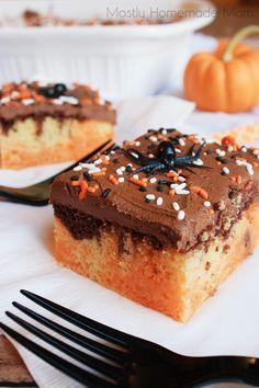Mostly Homemade Mom: Halloween Poke Cake