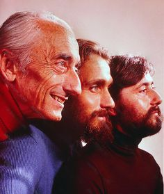 THE COUSTEAU'S (Jacques, Philippe and Jean-Michel) 1972