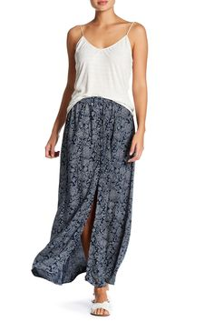 Slit Front Maxi Skirt by Angie on @nordstrom_rack