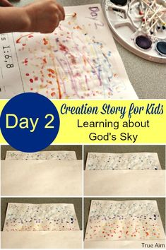 Why is the sky blue? Fun activities based on the 2nd day of Creation.
