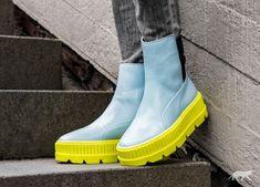b1b6423f273f9b Puma x Fenty Chelsea Sneaker Boot (Sterling Blue Puma Black Limeade)  Fenty  X