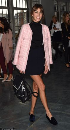 Alexa Chung in pink perfection