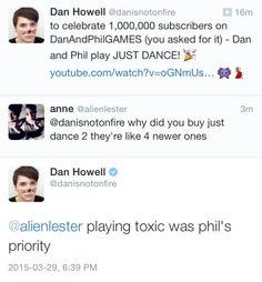 Danisnotonfire tweet