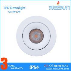 MEISUN 7W 10W High Power CITIZEN COB LED Recessed Down Light/Focus Square anti-glare adjustable downlight