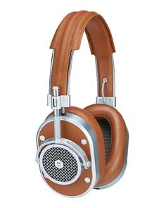Master & Dynamic MH40 Noise-Isolating Over-Ear Headphones, Cognac/Silvertone