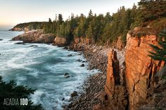 """It took centuries of storm waves to hew Monument Cove's namesake pillar from the rugged granite cliffs. Still, the improbable-looking monument is """"quite ephemeral. Arcadia National Park, National Parks, Fall Vacations, Mount Desert Island, Hiking Trails, Geology, Maine, Waves, Outdoor"""