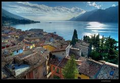Malcesine - Life in Italy Find Cheap Hotels, Italian Lakes, Living In Italy, Lake Garda, Hotel Reservations, Hotel Deals, Sicily, Small Towns, Tourism