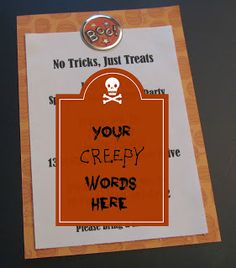 Creepy party invitations