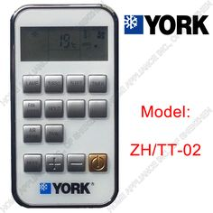 (1 pieces/lot) YORK Split And Portable Air Conditioner Remote Control ZH/TT-02 Air conditioning parts #CLICK! #clothing, #shoes, #jewelry, #women, #men, #hats, #watches
