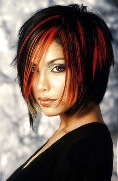 Don't know why but I have always liked the black with red in it like this.   Hair Color for Short Hair 2014_14
