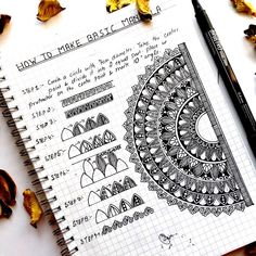 How to draw BASIC MANDALA To simplify the learning process in easy steps is every teacher's job. Be it on any platform. Easy Mandala Drawing, Mandala Doodle, Mandala Art Lesson, Simple Mandala, Mandala Artwork, Mandala Painting, Doodle Patterns, Zentangle Patterns, Mandala Pattern